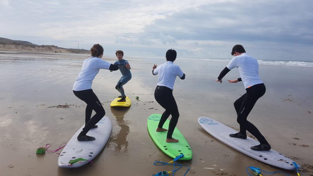Cours surf carteret cotentin hattainville